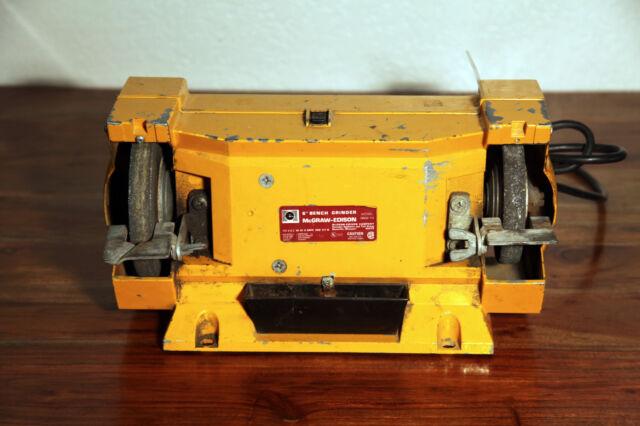 Vintage Mcgraw Edison Heavy Duty 6 Bench Grinder Model Number 3602 Ebay