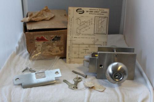NOS Corbin Door Lock Set Stainless Satin Retro Style 300 Series UNIT SL75