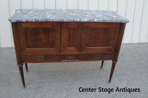 00001 Marble Top Sideboard Server Cabinet