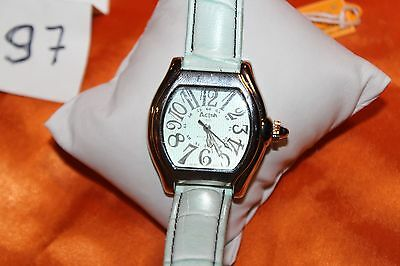 Nice Activa Swiss  495494  Women's Watch with WHITE Leather Band  F97