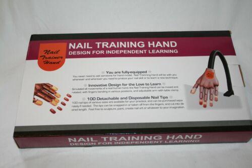 Flexible Movable DIY Training Display Manicure w/ False Nails Practice Hand NIB