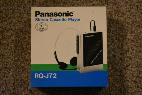 "NIB 1980s ""Walkman"" Vintage Panasonic Stereo Portable Cassette Player JAPAN made"