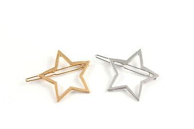 Haarklammer Haarspange Stern Star gold silber Haarschmuck A530 ()