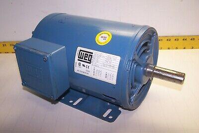 Weg 1 Hp Ac Electric Motor 208-230460 Vac 1145 Rpm F1435t Fr 1ut0icgnxh00106e