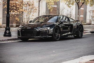 2017 Audi R8 v10plus 2017 Audi R8 v10plus Black Red Interior 9,100 Miles Clean Title Factory Warranty