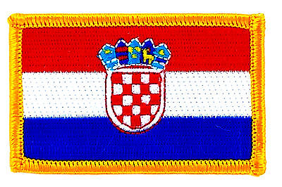 FLAG PATCH PATCHES CROATIA CROATIAN IRON ON COUNTRY EMBROIDE
