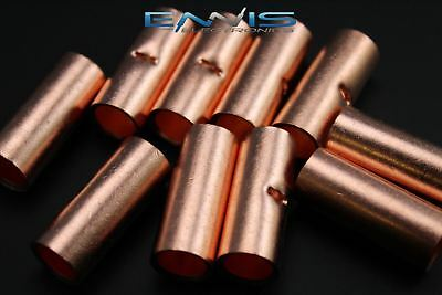 10 Gauge Copper Butt Connector 5 Pk Crimp Terminal Awg Battery Cur10