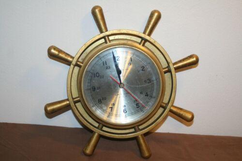 Solid Brass  Bell Clock Co.  Quartz Ship