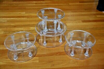 Vintage Crystal Look Acrylic Cake Stand Wilton Brand