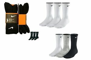 6 PAIRS MENS PUMA / NIKE / ADIDAS / WILSON CREW SPORTS SOCKS, YOU CHOOSE