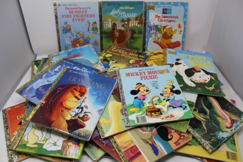 Little Golden Books – Lot of 20 – RANDOM MIX/Unsorted – Disney Classic Christian