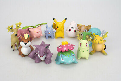 13PCS Pokemon GO High-Quality Pikachu Mini Figures Set Cake Toppers & Party Toys