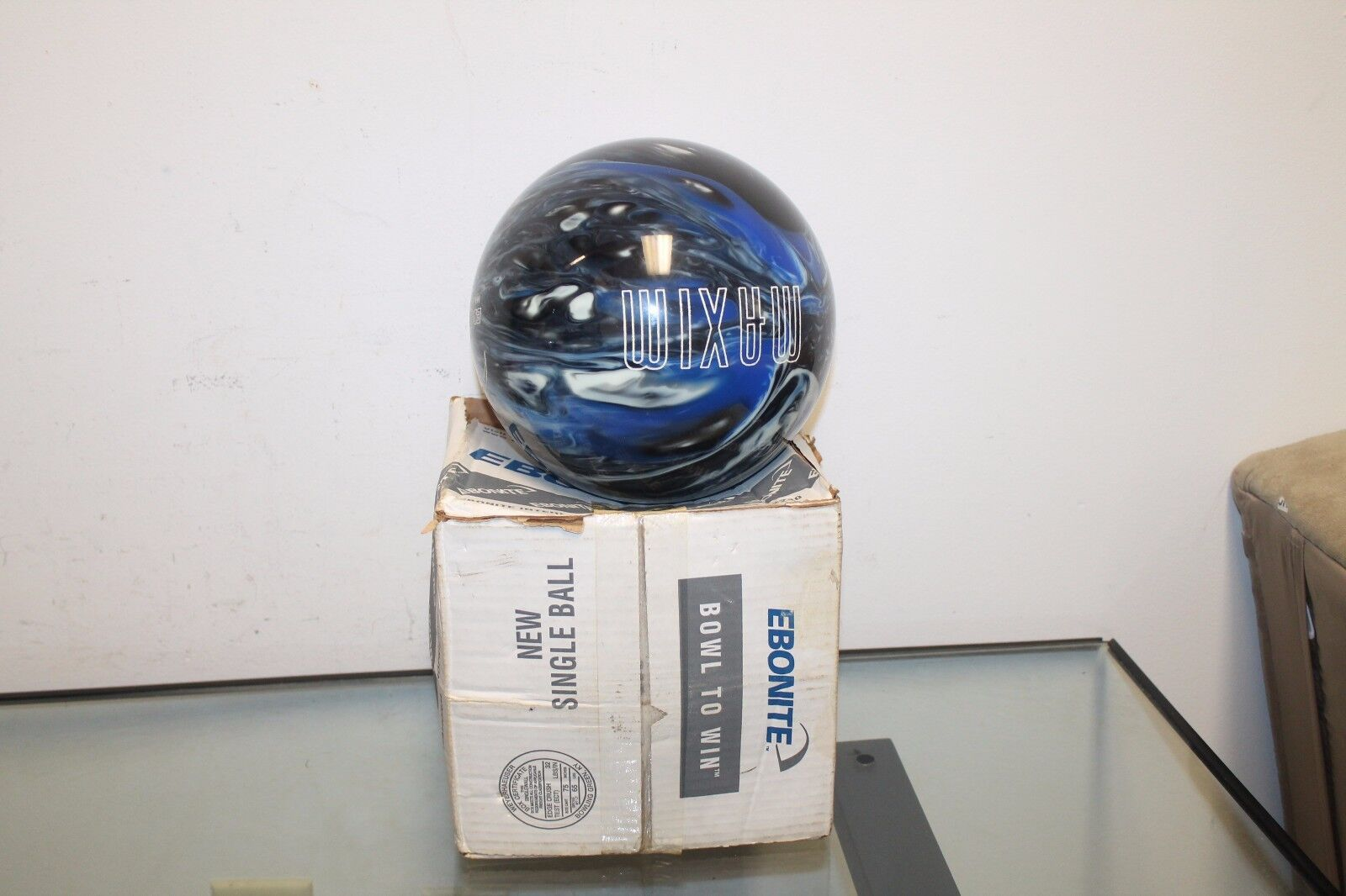 Ebonite Maxim Glow Polyester 11 Lb Pound Captain Midnight Bowling Ball No Bag