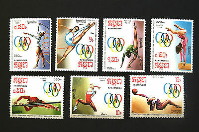 KAMPUCHEA 1988 OLYMPIC GAMES SEOUL SET MNH