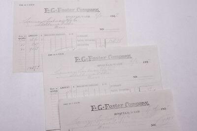 1927 Lamson Goodnow F G Foster Co Invoice Hoquiam Wa Ephemera L324b