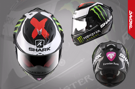 Shark Race pro Lorenzo replica motorcycle helmet