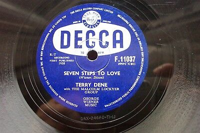 TERRY DENE 78 RPM SEVEN STEPS TO LOVE / CAN I WALK YOU HOME UK DECCA F.11037