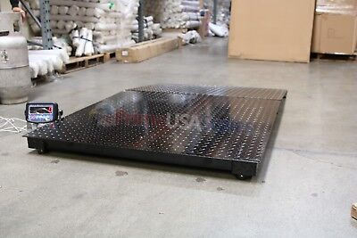4x4 Floor Pallet Scale 8000 Lb With 48 X 40 Ramp For Pallet Jack