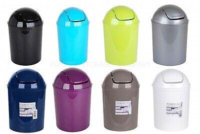 5 LITRE PLASTIC SWING WASTE BIN - DUSTBIN -KITCHEN - BATHROOM - RUBBISH - TOILET - Swing Bin