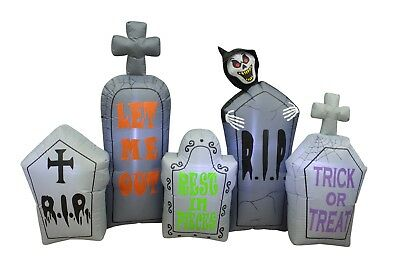 Halloween Inflatable Yard Party Air Blown Decoration Tombstones Pathway Reaper (Yard Inflatables Halloween)