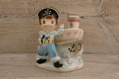 "Vintage Planter * Japan * Sailor * Navy * Pirate * Ship Vessel * 5 1/2"" Lefton?"