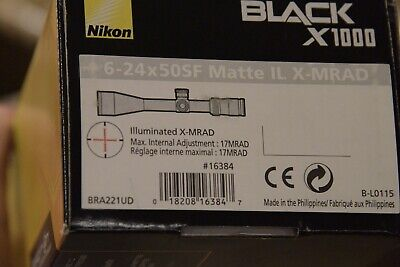 NIKON 16384 Black X1000 6-24X50 SFP Scope ILLUMINATED RETICLE $0.99 NO RESERVE