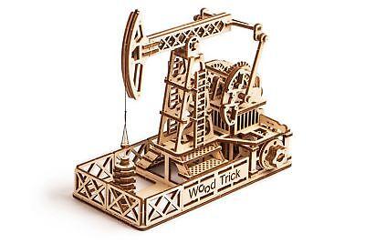 Wood Trick Oil Tower Derrick Mechanical Wooden 3D Puzzle Model Assembly DIY Kit](Wood Kits)