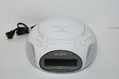 Sony Dream Machine ICF-CD831 CD Player Alarm Clock AM/FM Radio - Tested Working