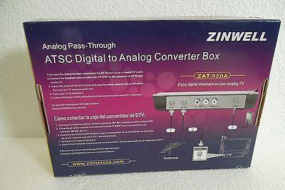 ZINWELL ZAT-950A Digital to Analog TV Converter Box w/Remote ATSC