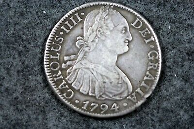 1794 - 8 Reales Hispan ~ Carolus IIII .896 Silver Coin!!!  #D5387