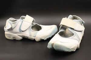 NIKE AIR RIFT womens white leather split trainers UK 4.5 US 7 EUR 38