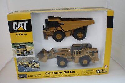 1-64 Caterpillar Quarry Gift Set 775E off Hwy Truck 988G Wheel Loader 55103
