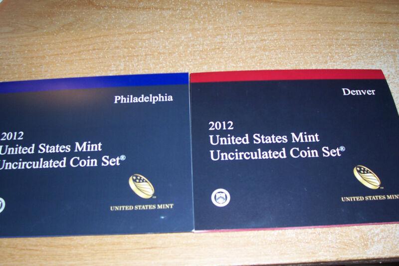 2012 US MINT P & D  28 coin UNCIRCULATED SET
