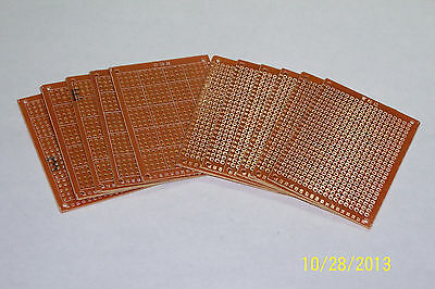 10 Pcs 2 X 2 34 Diy Prototype Pc Boards Copper Solder Pads Nice