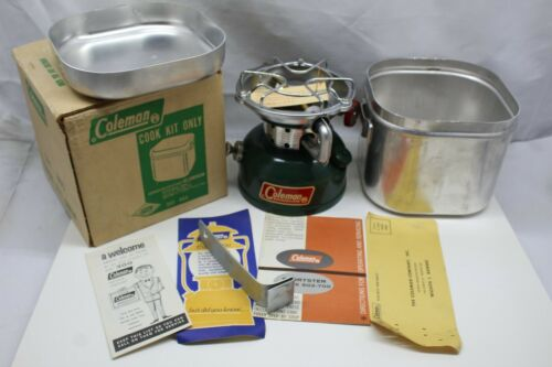 Coleman Cook Kit With Burner New in Box 501-960 /502-65 free shipping Must See!
