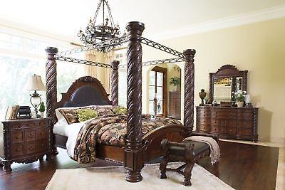 Ashley Furniture North Shore 8 Piece Bedroom Canopy Bedroom Set B553