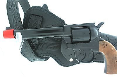Cap Gun Revolver with Black Holster and Leather Belt BRAND NEW Cowboy Set 70000