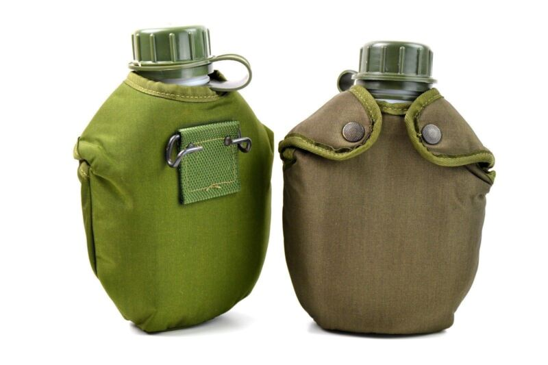 Original Army Drinking Flask M48 Norwegian Water Bottle Military Canteen Norway