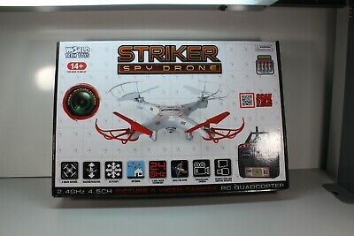 STRIKER RC SPY DRONE QUADCOPTER WITH Illustrate AND VIDEO CAMERA ...864