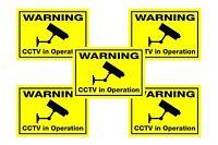 5 X Fluorescente Finestra Adesivi Cctv Dayglo Sicurezza Videocamera Avvertimento - fluor - ebay.it
