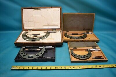 Used Lot Of Mitutoyo Outside Micrometers Carbide Tip