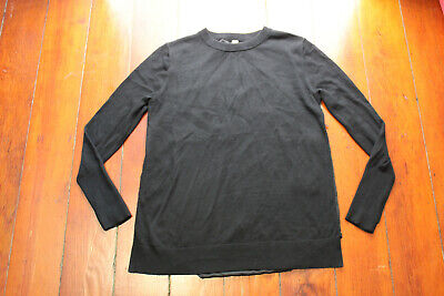 LAST 1 NWT Lululemon Still At Ease Pullover Sweater Black 10 FREE SHIP $128 SOFT