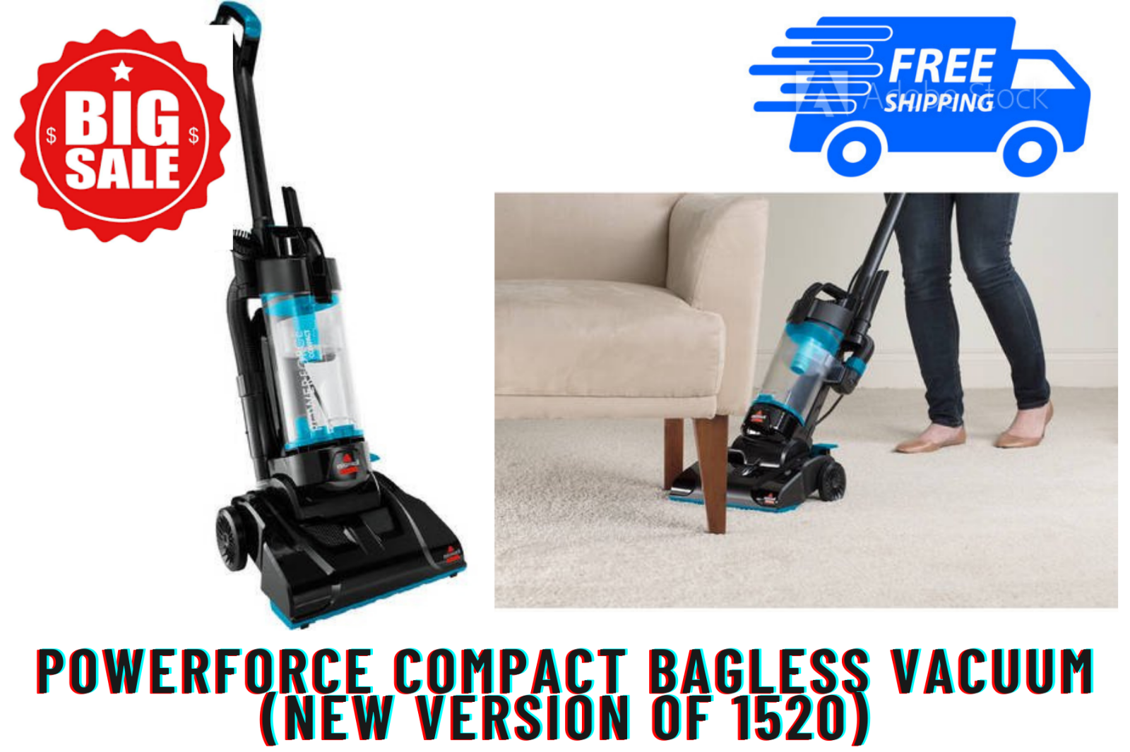 PowerForce Compact Bagless Vacuum Bagless Cyclonic Technoly