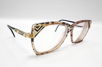 NICE Cazal Vintage Rx Eyeglasses Mod 324 Col. 668 Gold Smoke Tortoise Brown 2150