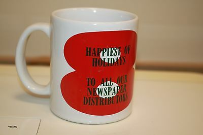 1987 The Atlanta Journal Constitution Ajc Coffee Mug Happy Holidays B13