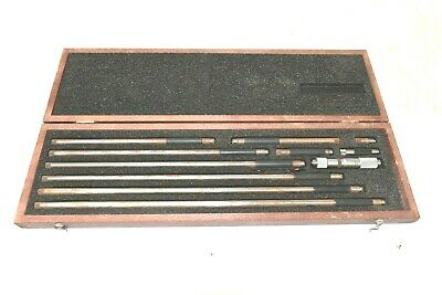 Starrett 823m Inside Micrometer Set 50mm-450mm With Wooden Case B