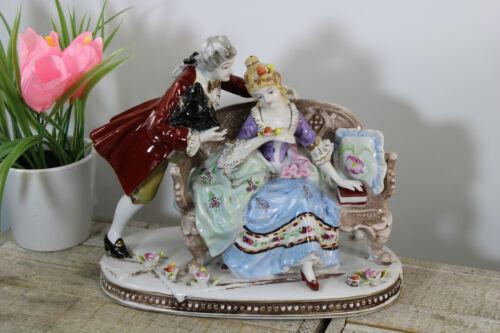 Vintage german porcelain group statue