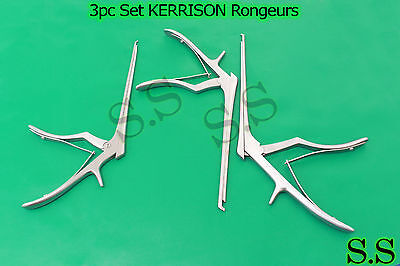 3 Pcs Set Kerrison Rongeurs 71mm 2mm 3mm Up 45 Degree Surgical Instruments