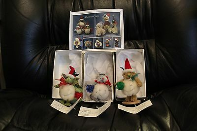 DEB CANHAM SNOWBALL MOUSE, DRAGON AND BEAR MINIATURE MOHAIR 149/500