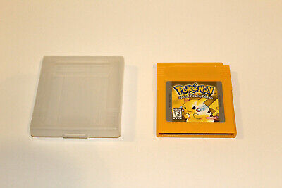 Pokemon Yellow Version Special Pikachu Edition Game Boy 100% Authentic